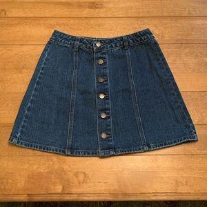 Adorable high waist denim jean skirt button up 💝